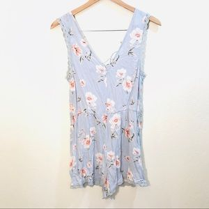 [Kendall and Kylie] Blue Floral Romper